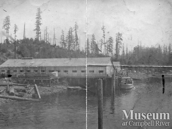 Anderson's Cannery and Netloft, Quathiaski Cove, 1910