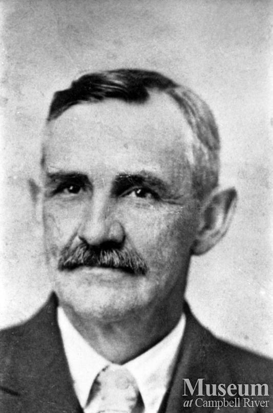 Portrait of R.J. Walker, Quadra Island's first teacher