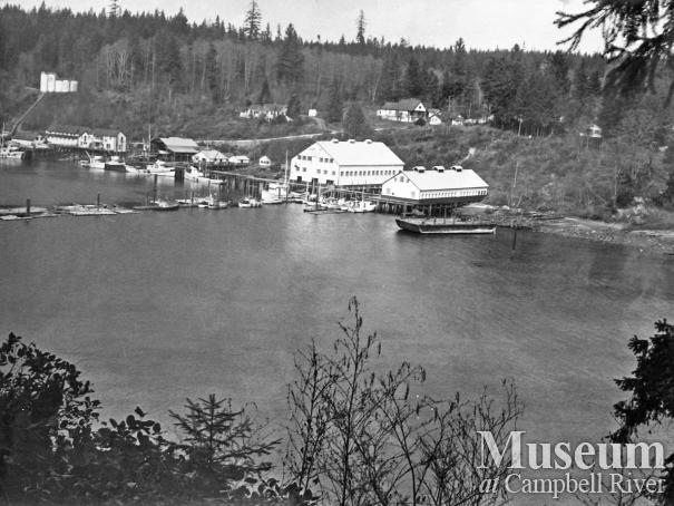View of Quathiaski Cove, 1964