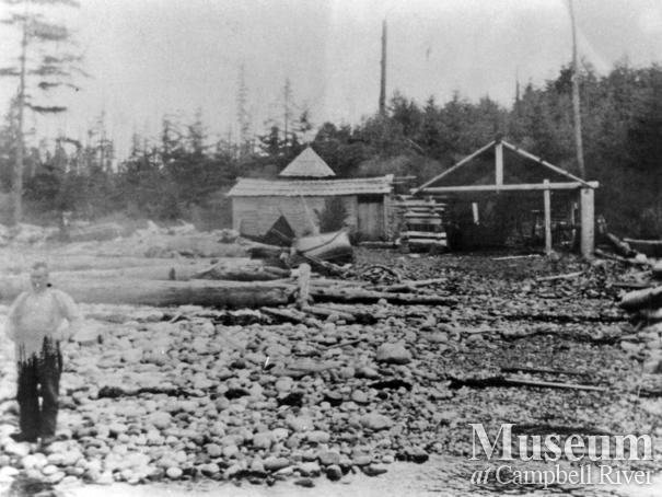 Whittington's beachfront at Burdwood Bay, Read Island