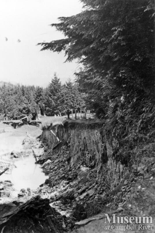 Damage as a result of the 1946 earthquake at Read Island