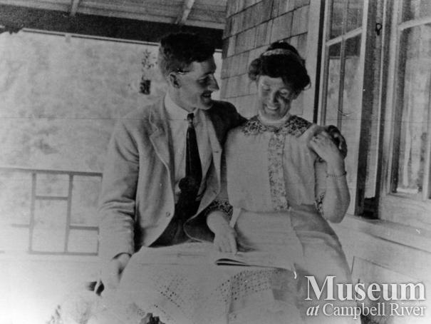 Captain and Mrs. James A. Nixon of Twin Islands in their new home