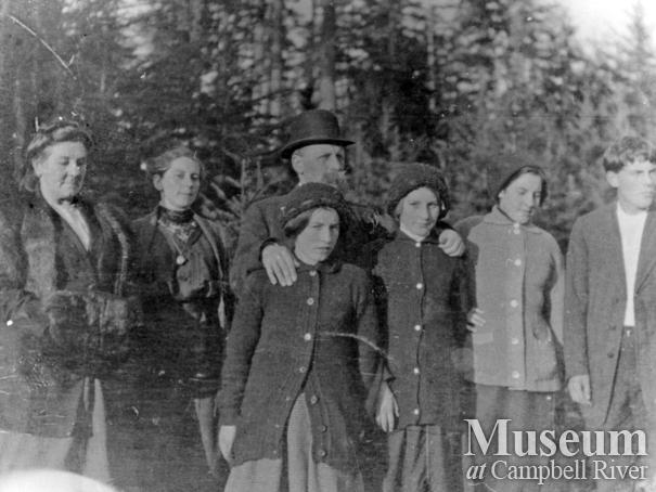 Group of early settlers on Cortes Island