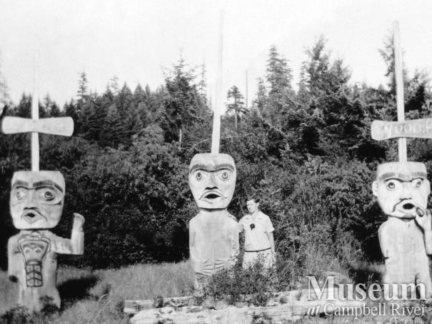 Welcome Figures at Cape Mudge, Quadra Island