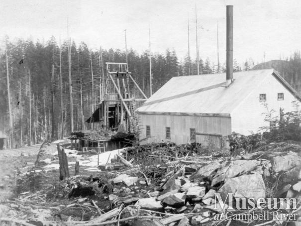 Operations at Lucky Jim Mine,  Granite Bay, Quadra Island