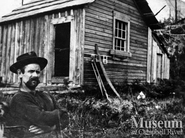 Thomas Leask at his family's first cabin