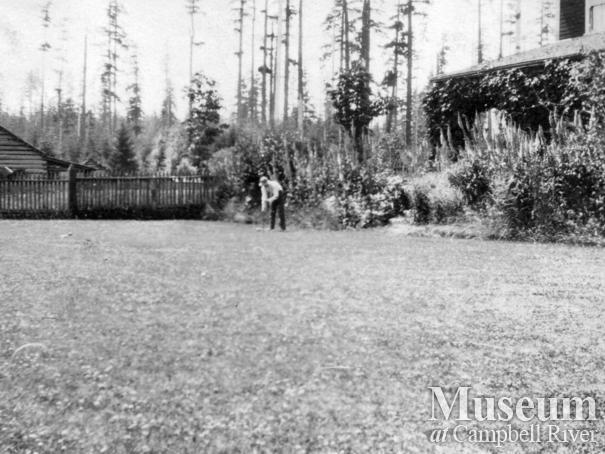 The Bagot family yard, Quadra Island