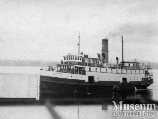 The Union Steamship, Cowichan, at Quathiaski Cove