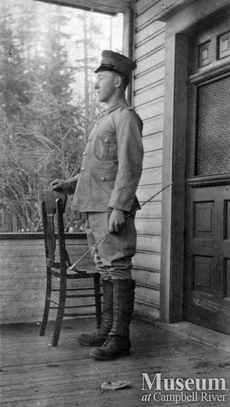 Rob Yeatman of Quadra Island in an American Uniform