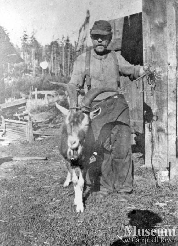 "Charles  Neuberg, ""Old Dutchie""  at Stenfors place, Granite Bay"