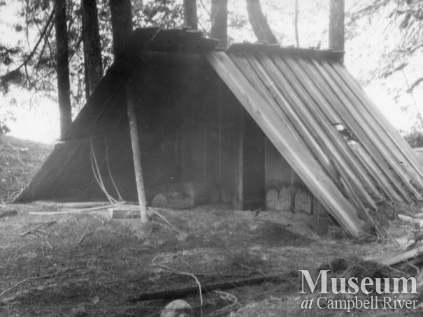 August Schnarr's trapping cabin at the head of Bute Inlet