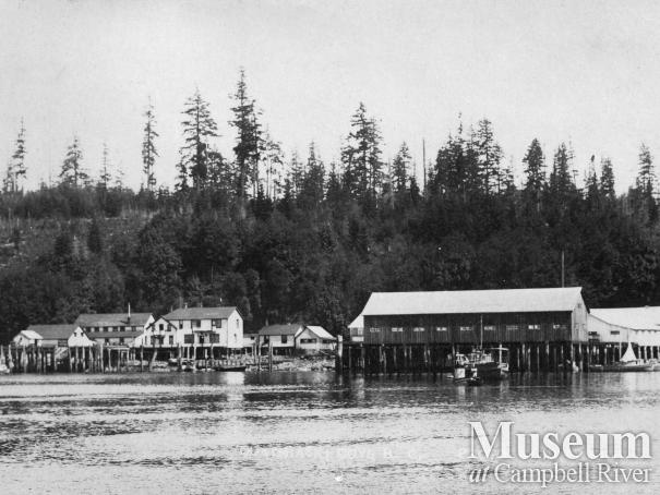 View of the Quathiaski Canning Co. operations, 1914.