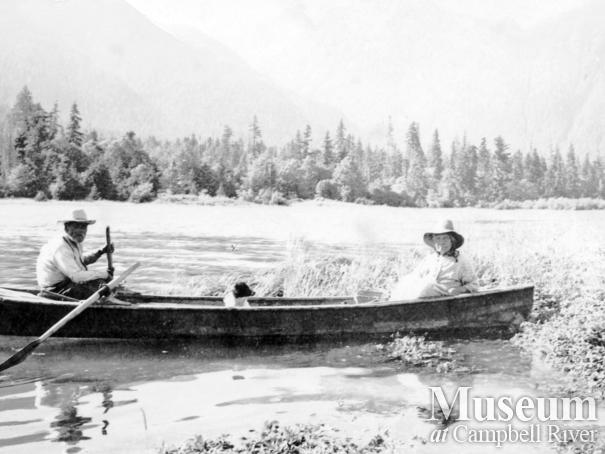 Johnny and Jenny Macamoose on the Nimpkish River