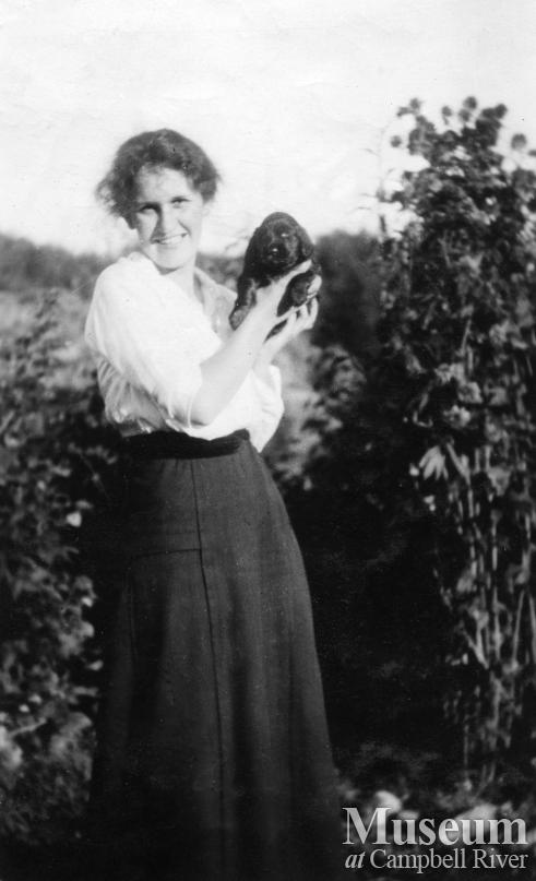 Katie Walker with her first dog