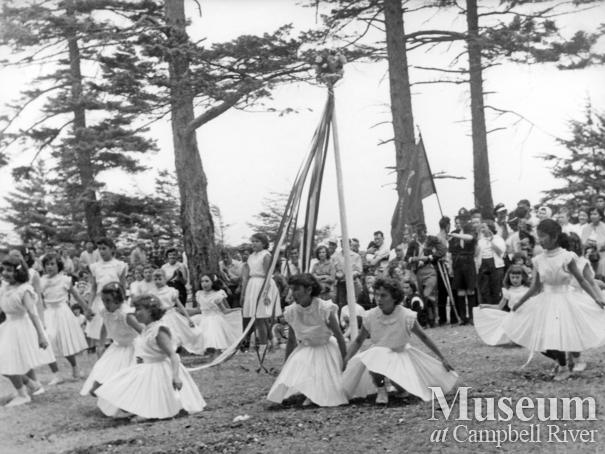 Quadra Island May Day, 1956
