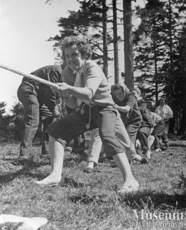 Tug of War at Quadra Island May Day, 1955