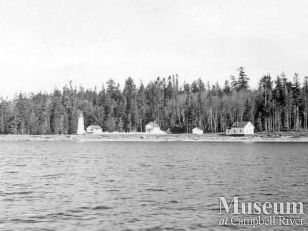 View of the Lighthouse Station at Cape Mudge, Quadra Island