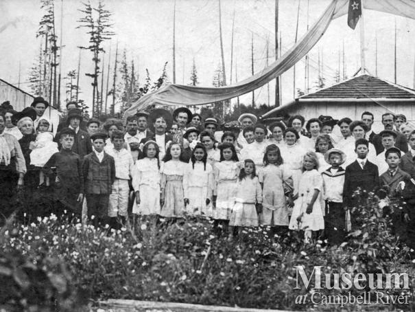 """""""Children's Day"""" A Garden Party, Heriot Bay, B.C."""