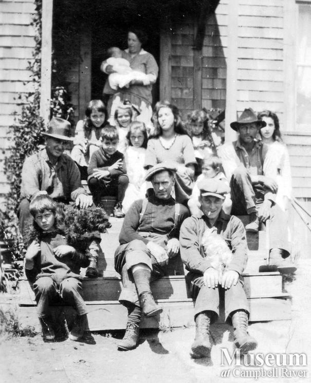 Members of the Beech and Hall families, Quadra Island