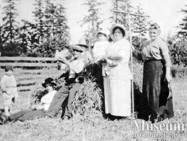 Joyce Family at Haying Time