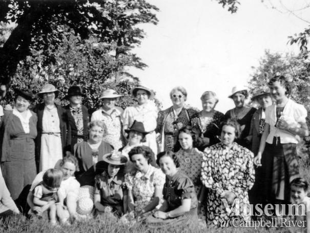 Members of the Women's Institute, St. John's Church, Quadra Island