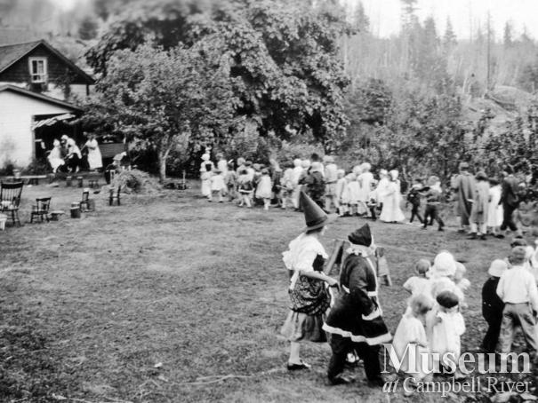 Children at the Mother Goose Day event held at Walker's place, Quadra Island