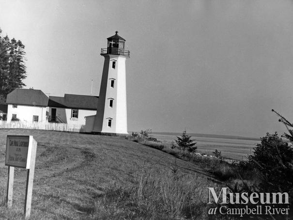 View of lighthouse at Cape Mudge, Quadra Island