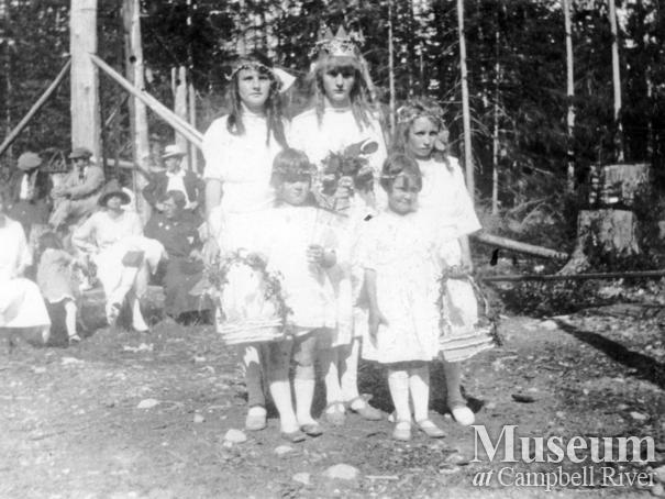 Cortes Island school group at May Day celebrations
