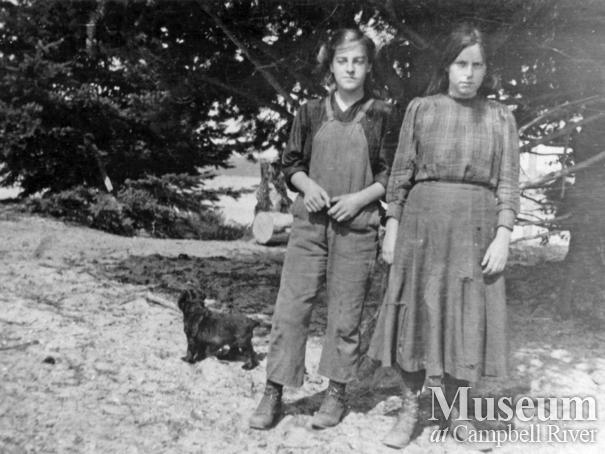 Rose and Flo Manson of Cortes Island