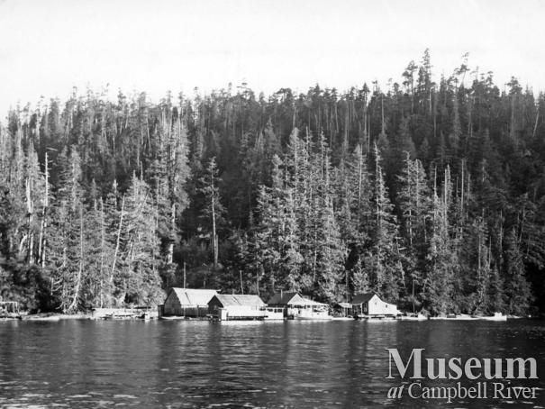The Pedersen's  float camp, at Watson Island