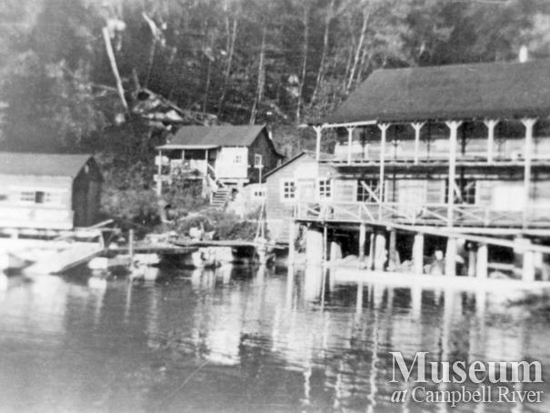 The store and machine shop at the Landing, Stuart Island, B.C.