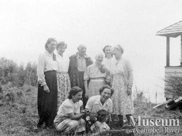 Group  of Stuart Island residents, 1940's