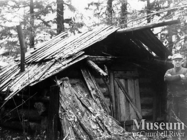 Jim Stanton's hunting cabin, Knight Inlet area