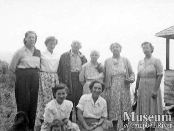 Group of early Stuart Island settlers