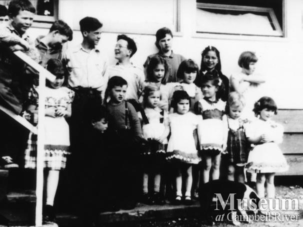 St. Patrick's Day at a school on Stuart Island