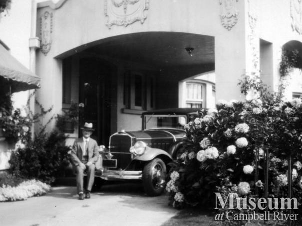 W.E. Anderson, owner of the Quathiaski Canning Company, at his home in Vancouver