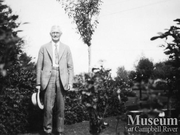 W.E. Anderson, owner operator of the Quathiaski Canning Company, at his home in Vancouver
