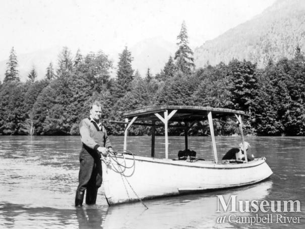 The Champions' small boat, Toba Inlet
