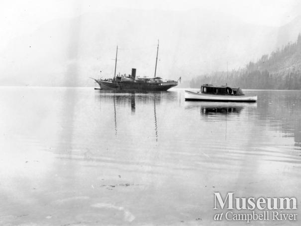 """Major Fleischman's Yacht """"Haida"""" and the Barrow Yacht """"Toketie"""""""