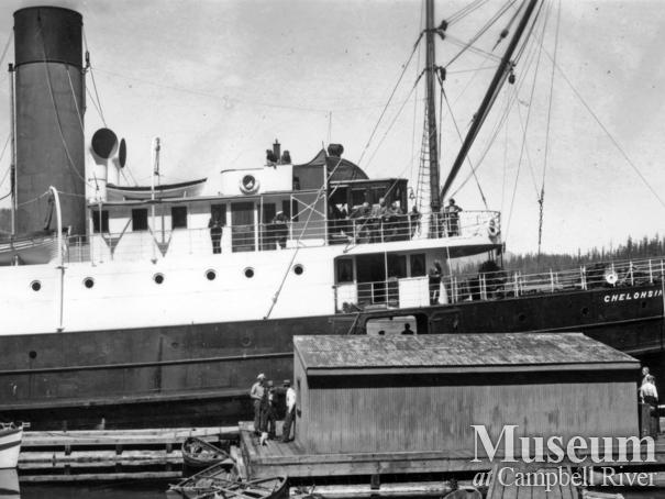 Union Steamship Chelohsin at wharf at Surge Narrows