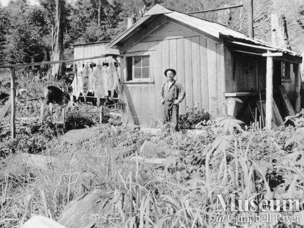 Mr. Chapman at his house on Stuart Island
