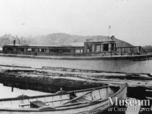 The Quathiaski 10 tied up to the wharf