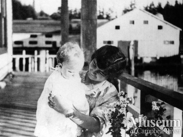 Edward McAllister with his mother Mae McAllister (nee Anderson)