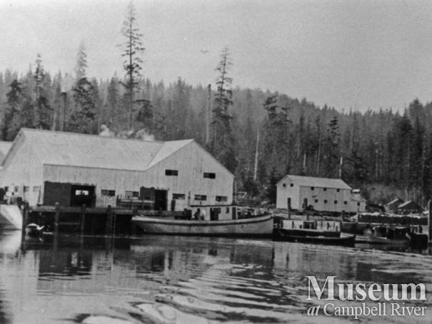 View of Blind Channel Cannery, Thurlow Island
