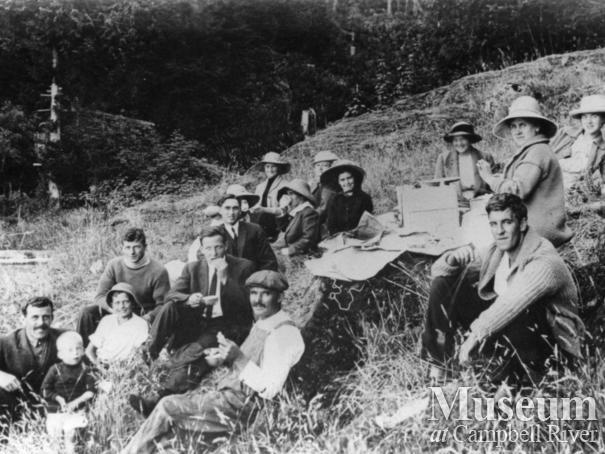Picnic gathering on Quadra Island