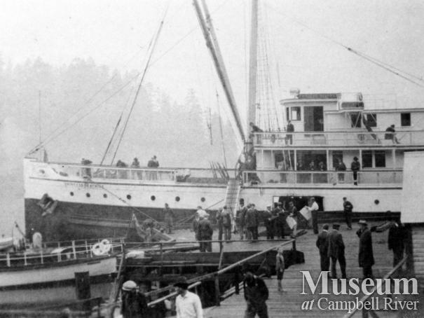 CPR boat the Princess Beatrice at the wharf at Quathiaski Cove, Quadra Island