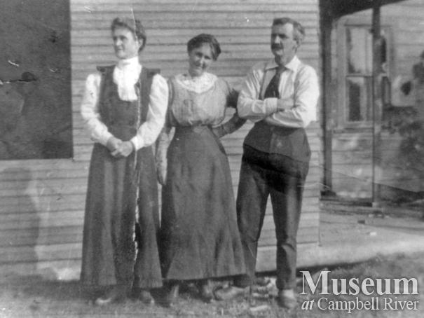 R.J. Walker, Winnie, and Reverend J. Walker, Quadra Island