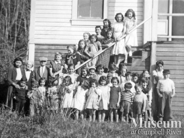 Children at a party at Cape Mudge, Quadra Island