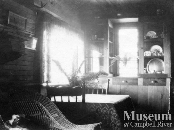 View inside the Marlatt family home, Mary Island
