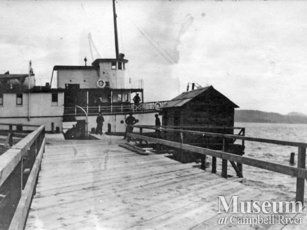 Steamship at the Wharf on Mary Island